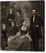 Ulysses S. Grant With His Family When Canvas Print