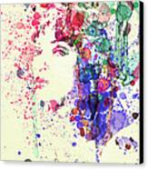 Uma Thurman Canvas Print by Naxart Studio