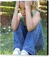 Unhappy Girl Canvas Print