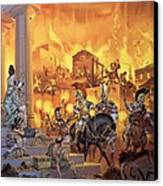 Unidentified Roman Attack Canvas Print
