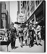 Union Men Picketing Macys Department Canvas Print by Everett
