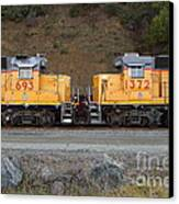 Union Pacific Locomotive Trains . 7d10573 Canvas Print by Wingsdomain Art and Photography