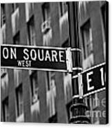 Union Square West Canvas Print by Susan Candelario