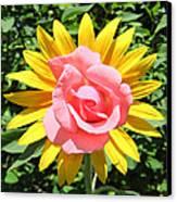 Unique Sun Rose Canvas Print