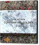 Unknown Confederate Soldier Canvas Print by Renee Trenholm