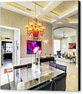 Upscale Dining Room Interior Canvas Print