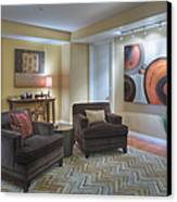 Upscale Living Room Interior Canvas Print