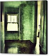 Upstairs Hallway In Old House Canvas Print by Jill Battaglia