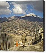 U.s. Army Soldier Walks Down A Path Canvas Print by Stocktrek Images