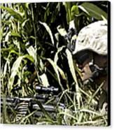 U.s. Marine Maintains Security Canvas Print