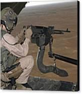 U.s. Marine Test Firing An M240 Heavy Canvas Print