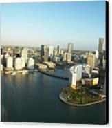 Usa, Florida, Miami, Downtown, Aerial View Canvas Print
