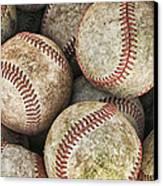 Used Baseballs Canvas Print by Wade Aiken