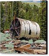 Used To Crush Ore Canvas Print by Kirk Williams