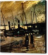 Van Gogh Le Quai Huile Sur Toile 1885  Canvas Print