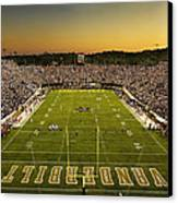 Vanderbilt Endzone View Of Vanderbilt Stadium Canvas Print by Vanderbilt University