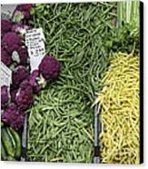 Variety Of Fresh Vegetables - 5d17898 Canvas Print by Wingsdomain Art and Photography