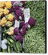 Variety Of Fresh Vegetables - 5d17900-long Canvas Print