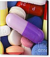 Variety Of Pills Canvas Print by M. I. Walker