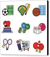 Various Sports Canvas Print