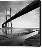 Vasco Da Gama Bridge Iv Canvas Print by Nina Papiorek