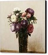 Vase Of Flowers Canvas Print by gnace Henri Jean Fantin-Latour
