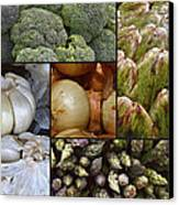 Vegetable Montage Canvas Print by Forest Alan Lee