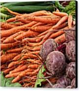 Veggies At The Farmer's Market Canvas Print by Jarrod Erbe