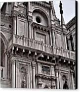 Venetian Architecture Iv Canvas Print by Ellen Heaverlo