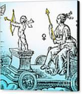 Venus, Roman Goddess Of Love Canvas Print by Photo Researchers