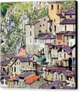 Vertical Panorama Of Saorge Canvas Print