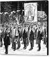 Veteran March, 1876 Canvas Print by Granger
