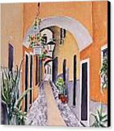 Via Grimaldi Saleri Canvas Print by Regina Ammerman