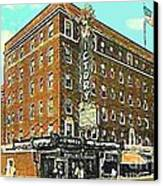 Victory Theatre And Hotel Sonntag In Evansville In 1920 Canvas Print by Dwight Goss