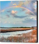 View Of Charleston Rainbow  Canvas Print by Jenny Ellen Photography