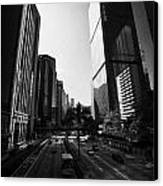 View Of Gloucester Road Wan Chai Skyscrapers Including Revenue Immigration Tower Building Hong Kong Canvas Print by Joe Fox