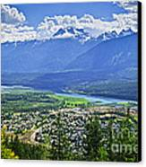View Of Revelstoke In British Columbia Canvas Print