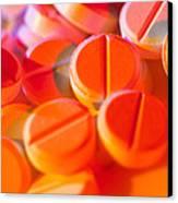 View Of Several Scored Paracetamol Tablets Canvas Print