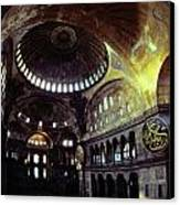 View Of The Interior Of Hagia Sophia Canvas Print by James L. Stanfield