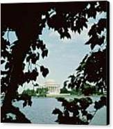View Of The Jefferson Memorial Canvas Print