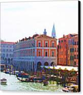 View Of Venice's Market Canvas Print by Christiane Kingsley