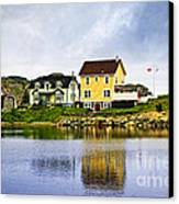 Village In Newfoundland Canvas Print