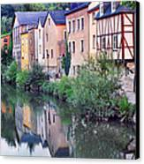 Village Reflections In Luxembourg I Canvas Print by Greg Matchick