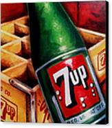 Vintage 7up Bottle Canvas Print by Terry J Marks Sr