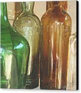 Vintage Bottles Canvas Print by Georgia Fowler