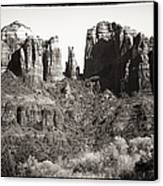 Vintage Cathedral Rock Canvas Print by John Rizzuto