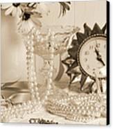 Vintage Dressing Table Canvas Print by Amanda Elwell