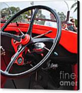 Vintage Ford - Steering Wheel... Controls - Circa 1920s Canvas Print by Kaye Menner