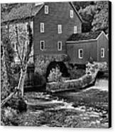 Vintage Mill In Black And White Canvas Print