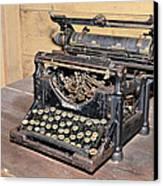 Vintage Typewriter Canvas Print